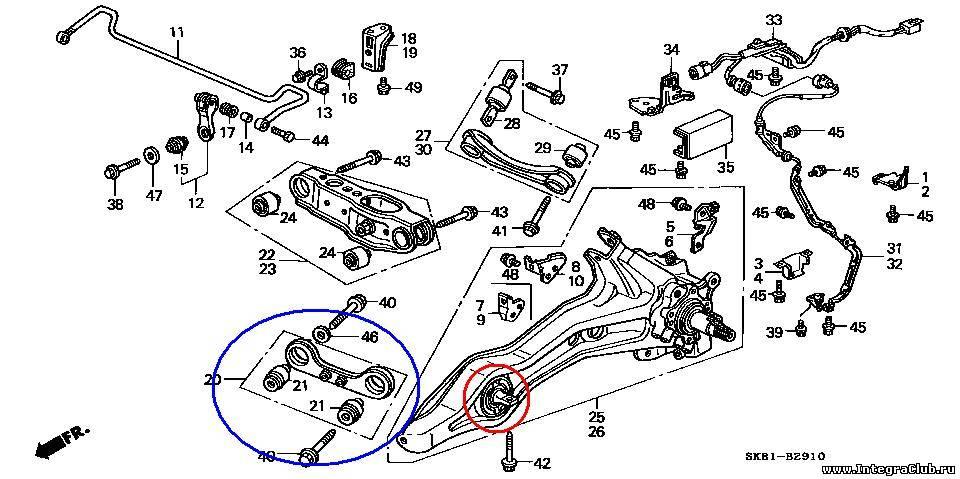 Схема задних сайлентблоков хонда цивик